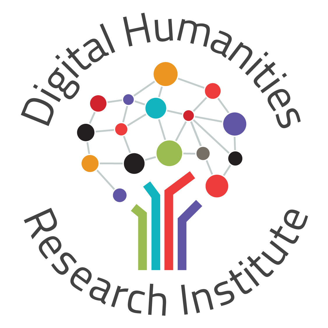 Graphic that depicts: Digital Humanities Research Institute logotype
